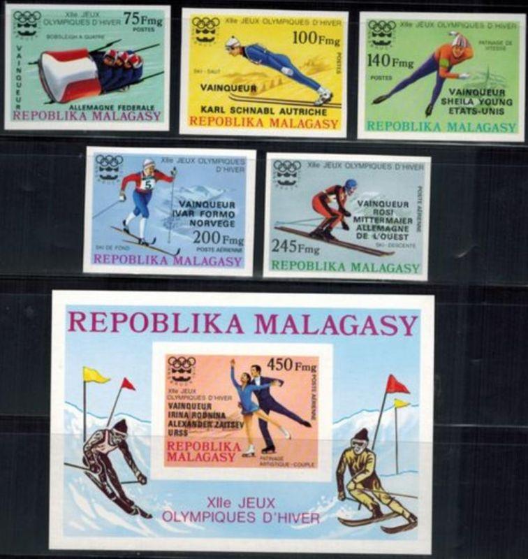 Madagaskar Olympia Sport Winterspiele Innsbruck Mi. nicht gelistet postfrisch