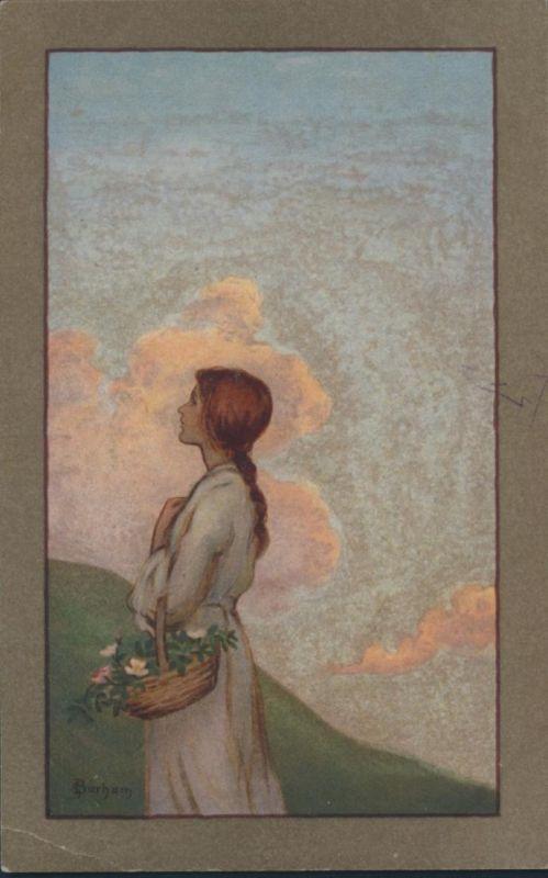 Ansichtskarte Künstler S. Barham Nr. 431 M.M. Vienne M. Munk Frauen ungelaufen