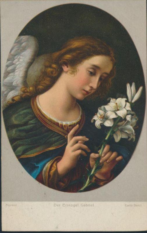 Ansichtskarte Künstler Carlo Dolci Der Erzengel Gabriel 1616-1686 Florenz 0