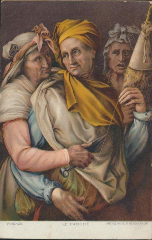 Ansichtskarte Künstler Michelangelo Buonarroti Le Parche Florenz Firenze 0
