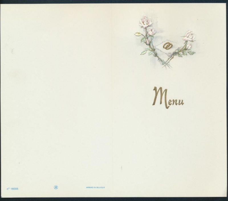 Sehr schöne alte Präge Menukarte Speisekarte Weihnachten Geburtstag Hochzeit 0