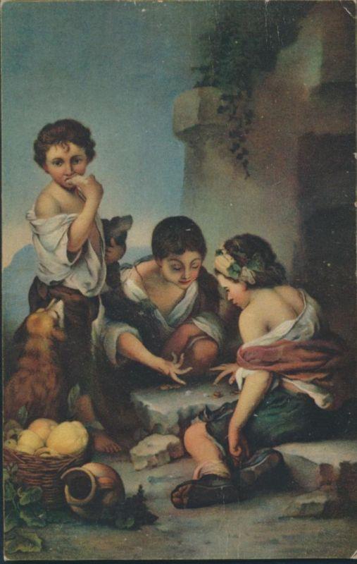 Ansichtskarte Künstler Bartolome Esteban Murillo Die Würfelspieler 1618-1682