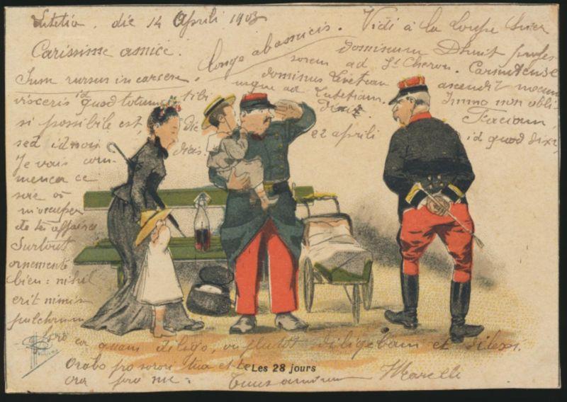 Ansichtskarte Litho handcoloriert Frankreich nach La Loupe 0