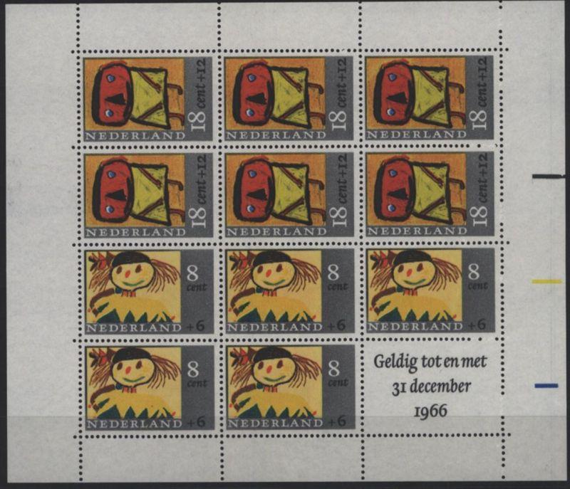Niederlande Block 3 Voor het Kind 1965 Kinderzeichnungen postfrisch ** MNH
