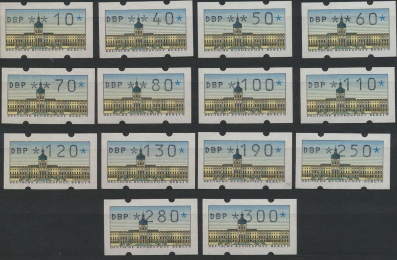 Berlin Automatenmarken Satz 1 VS1 Luxus postfrisch 1987 Kat.-Wert 60,00
