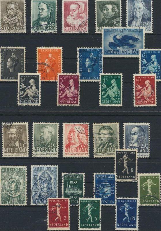Niederlande 313-340 gestempelt - Jahrgang 1938/1939 komplett