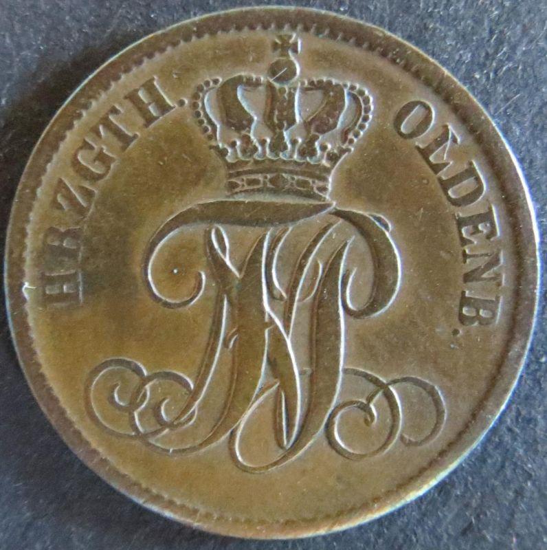Münze Oldenburg 32 - 3 Schwaren Scheidemünze 1858 ss-vz