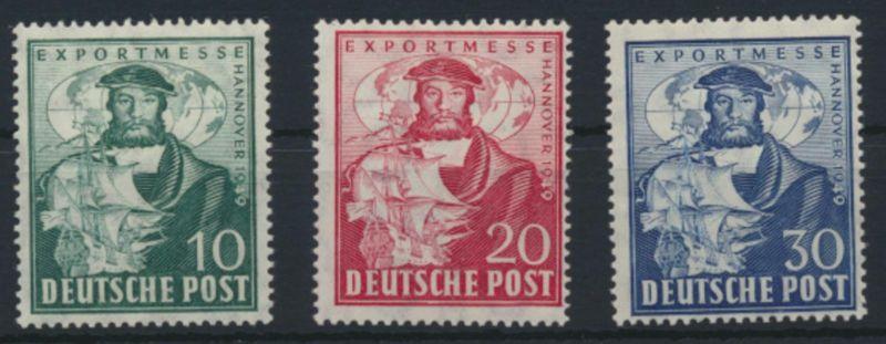 Bizone 103-105 a Exportmesse Hannover Luxus postfrisch MNH Kat.-Wert 14,00