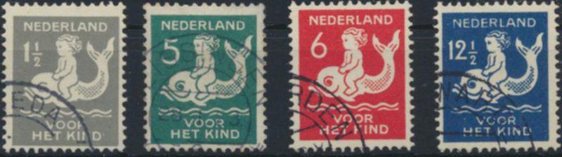 Niederlande 229-232 gestempelt - Voor het kind 1929