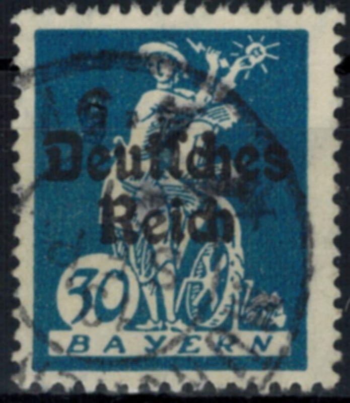 Deutsches Reich 123 Abschiedsserie 30 Pf Plattenfehler II 1920 gestempelt