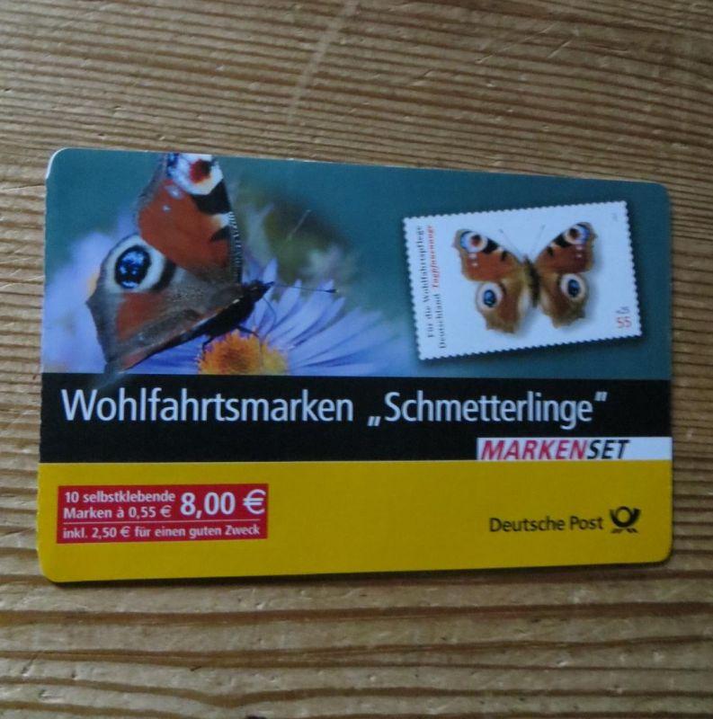 Bundesrepublik Markenheftchen 60 Wohlfahrt Schmetterlinge 2005 Ersttagsstempel