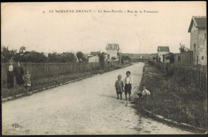 Ansichtskarte Frankreich Nouveau Drancy per Feldpost 1914