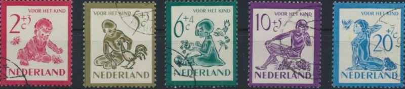 Niederlande 565-569 gestempelt - Voor het Kind 1950