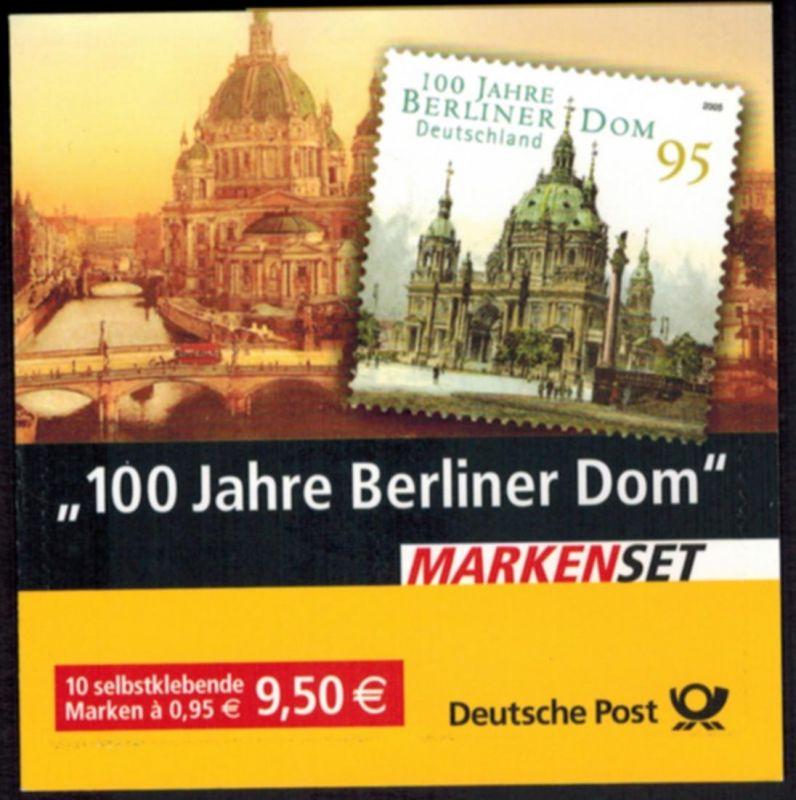 Bundesrepublik Markenheftchen 57 Berliner Dom 2005 Ersttagsstempel BERLIN