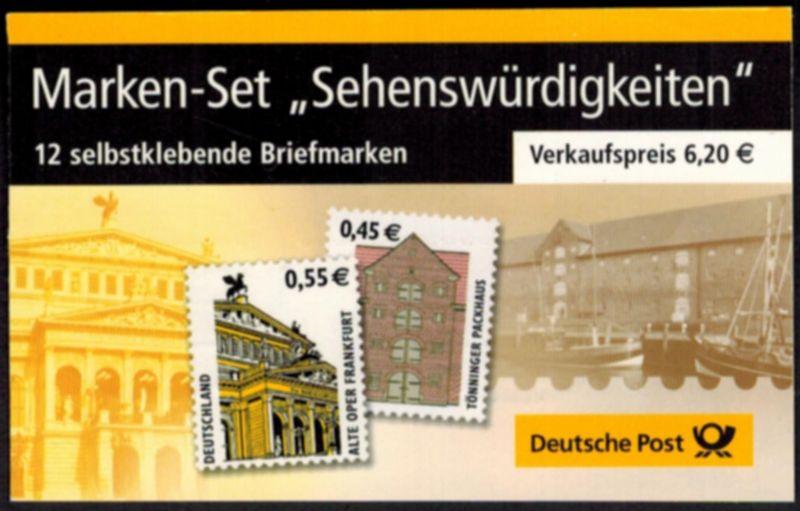 Bund Markenheftchen MH 50 a B I Sehenswürdigkeiten 2002 Ersttagsstempel BERLIN