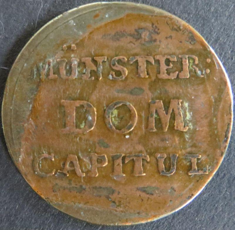 Münze Münster Domkapitel 1790 - 2 Pfennig Dom Capitul ss