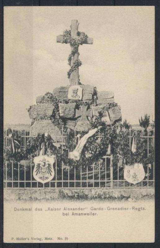 Militaria Frankreich Denkmal Kaiser Alexander GardeGrenadier Regiment Amanweiler