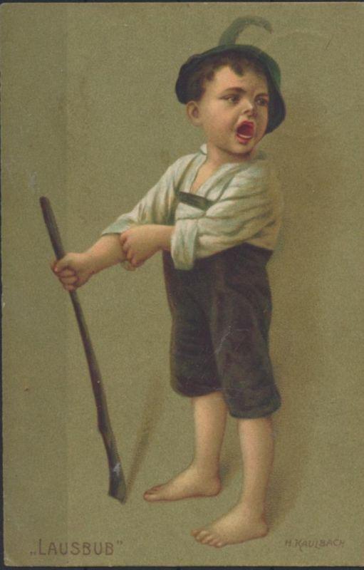 Ansichtskarte Kinderpost Künstler H. Kaulbach Lausbub nach Ruschütz Rzuszcze