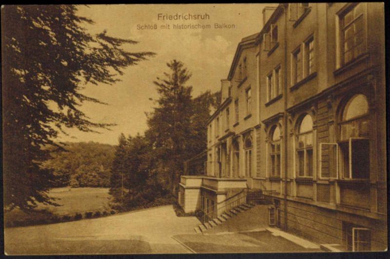 Ansichtskarte Aumühle Friedrichsruh Schloß 1916 nach Wandsbek Schleswig-Holstein