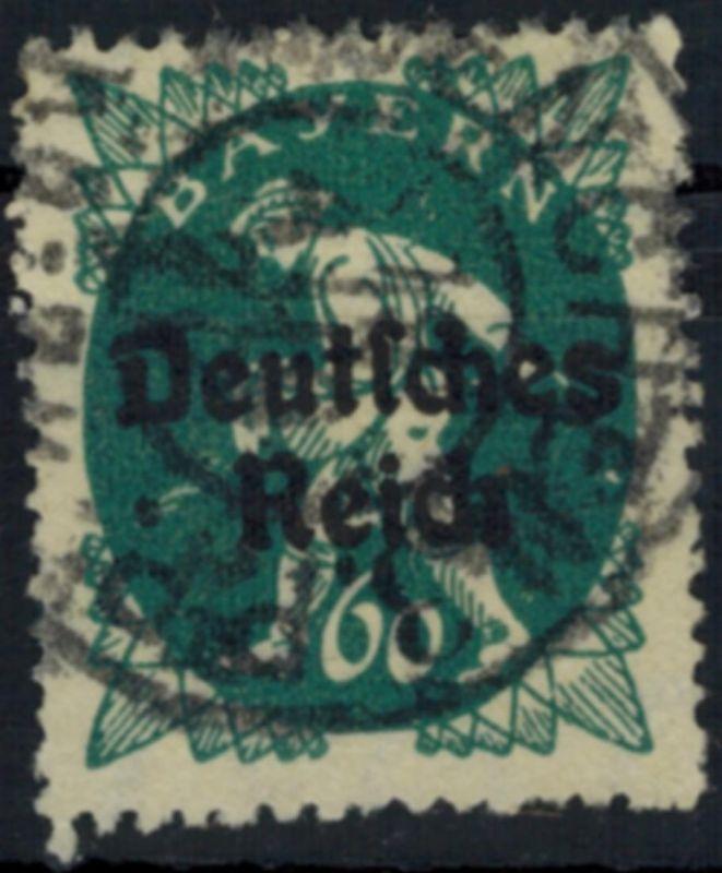 Deutsches Reich 126 Abschiedsserie 60 Pf Aufdruckfehler VII 1920 gestempelt