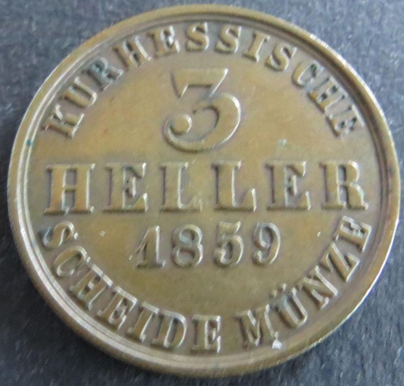 Münze Hessen-Kassel 1859 - 120 Einen Thaler Gekröntes Wappen Kupfer ss