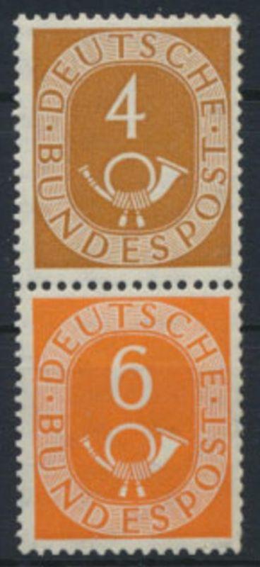 Bund Zusammendruck Posthorn S1 aus MHB postfrisch