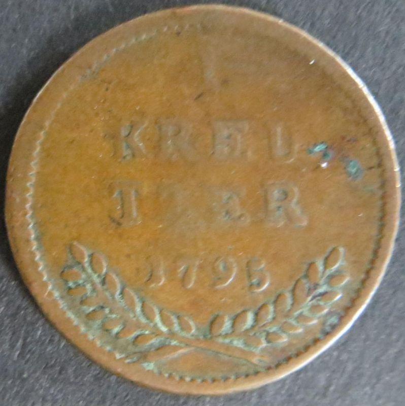 Münze Salzburg 1 Kreuzer 1795 schön Schön: 188 Hieronymus von Colloredo