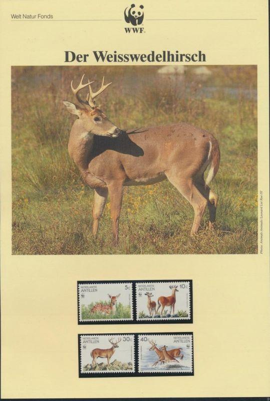 WWF Niederländische Antillen 739-742 Weisswedelhirsch kpl. Kapitel bestehend