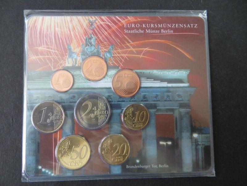 Euro Kursmünzensatz 2002 A Brandenburger Tor