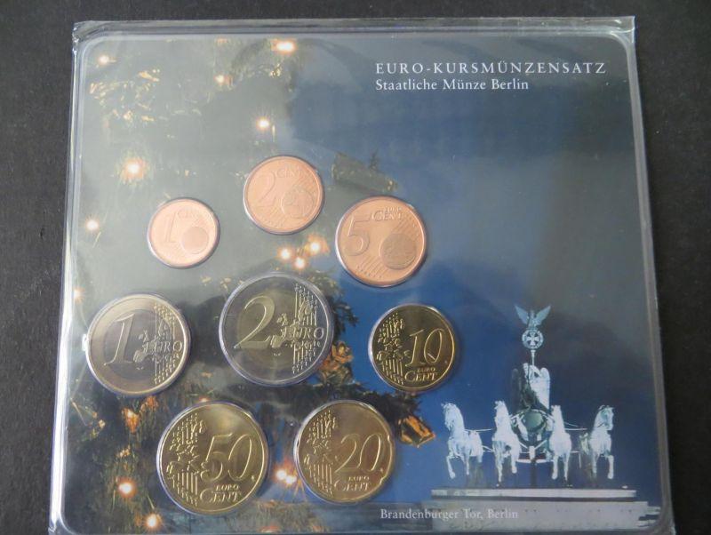 Euro Kursmünzensatz 2002 A Brandenburger Tor Weihnachtsbaum