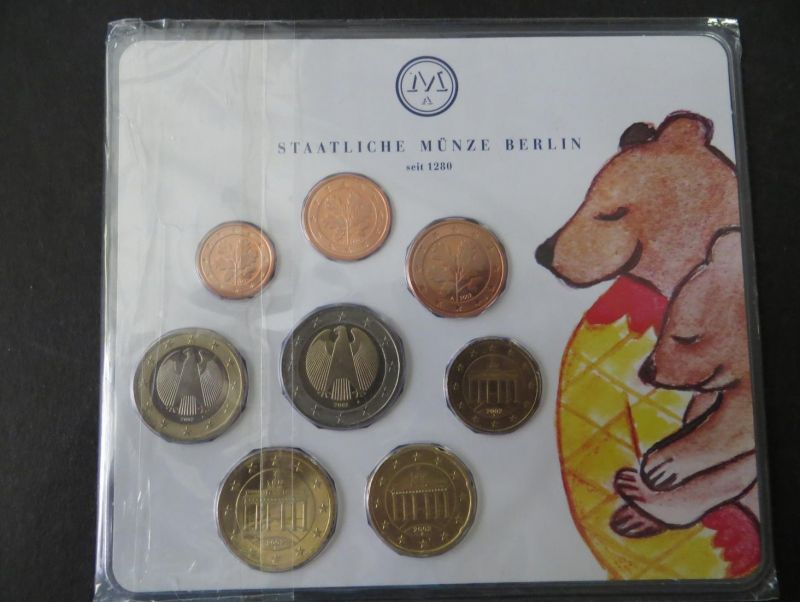 Euro Kursmünzensatz 2002 A Berliner Bär