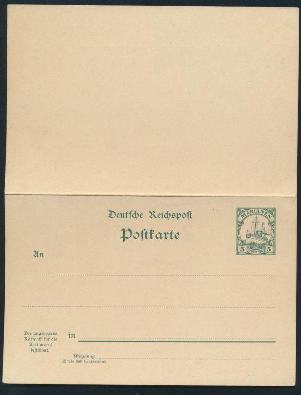 Deutsche Kolonien Togo Ganzsache P 10 Schiffszeichnung ungebraucht Ausgabe 1901