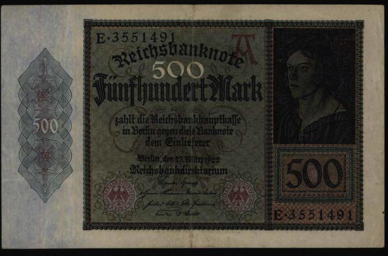 Geldschein Banknote Reichsbanknote Deutsches Reich Infla 70 S E 27.31922 - II