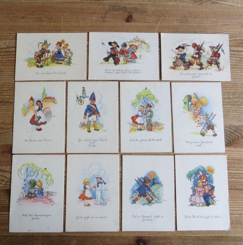 Ansichtskarte Serie 11 Stück Künstler Liesel Lauterborn