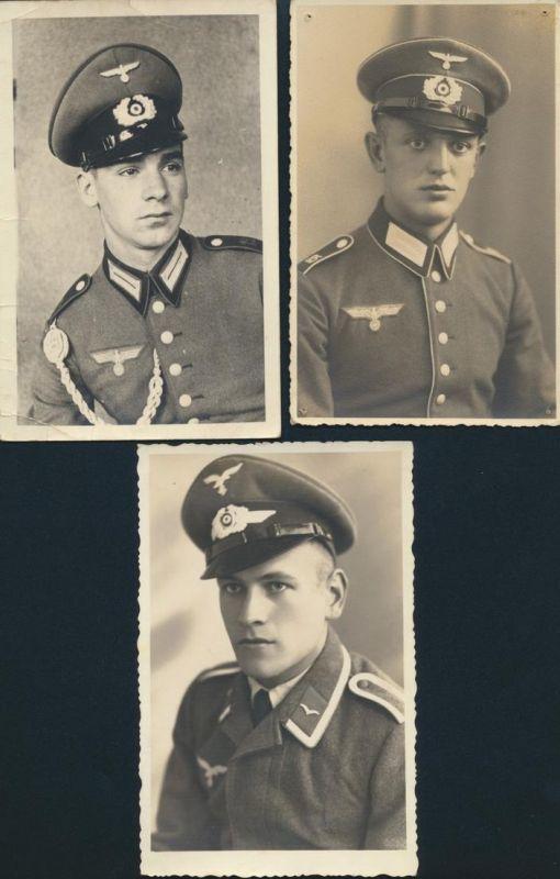 Ansichtskarte II. WK 3. Reich drei Soldaten Militär Militaria II. WK.