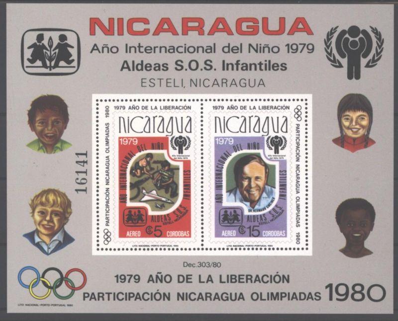 Nicaragua Block 110 A Internationales Jahr des Kindes 1979 postfrisch MNH 1980