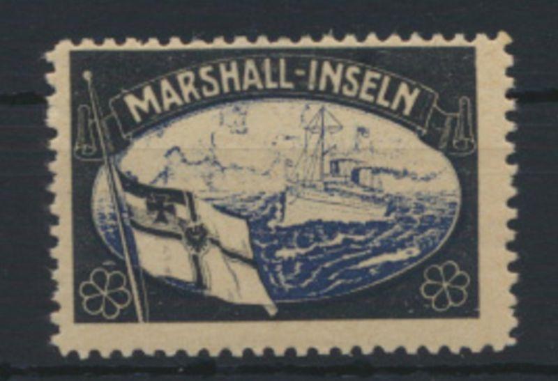 Deutsche Kolonien Marshall Inseln Vignette Kaiseryacht ungebraucht