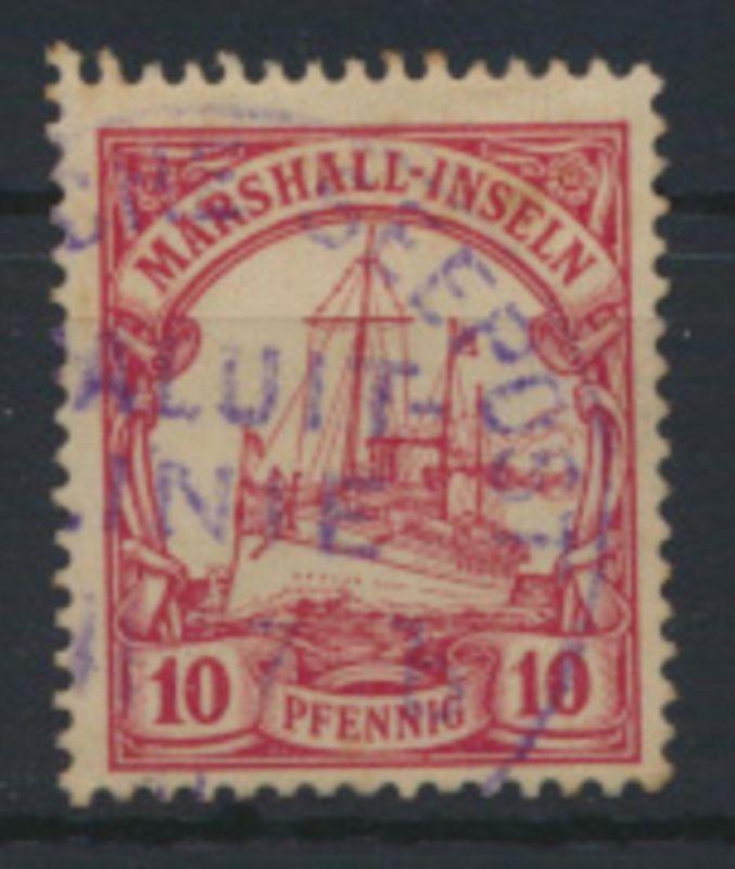 Kolonien Marshall Inseln guter Seepoststempel Sydney Jaluit Yap auf 10 Pfg.Nr.15