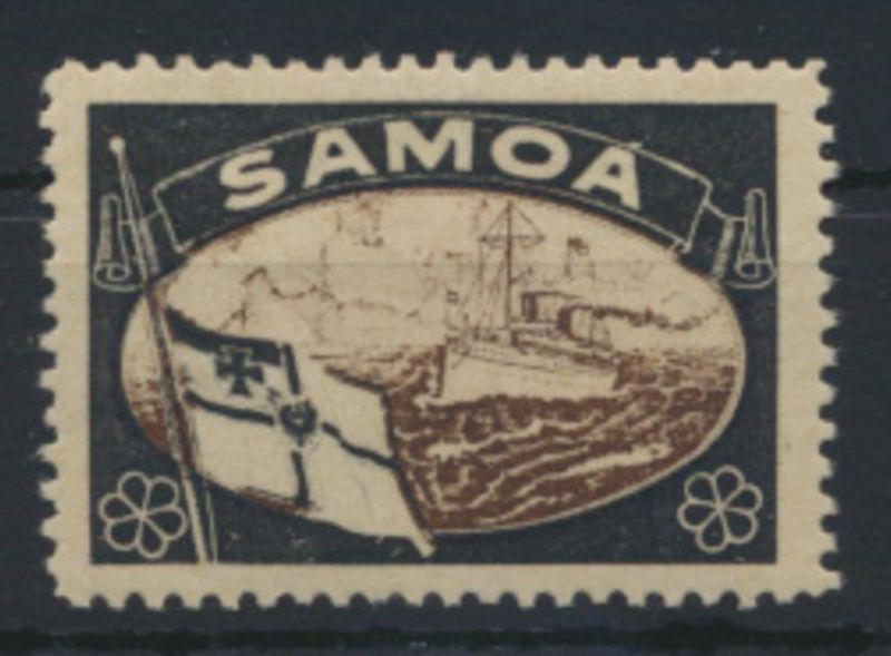 Deutsche Kolonien Samoa Vignette Kaiseryacht ungebraucht
