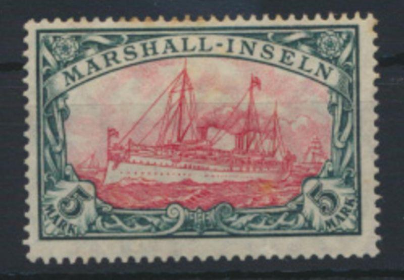 Kolonien Marshall Inseln 25 5 Mark Schiffszeichnung Kaiseryacht ungebraucht
