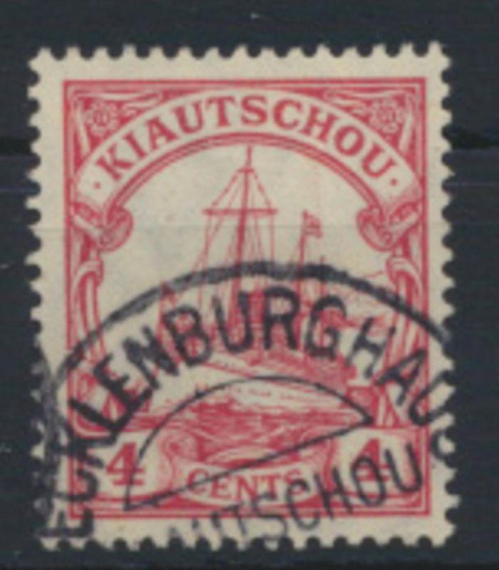 Deutsche Kolonien Kiautschou 30 a mit gutem Stempel MECKLENBURGHAUS