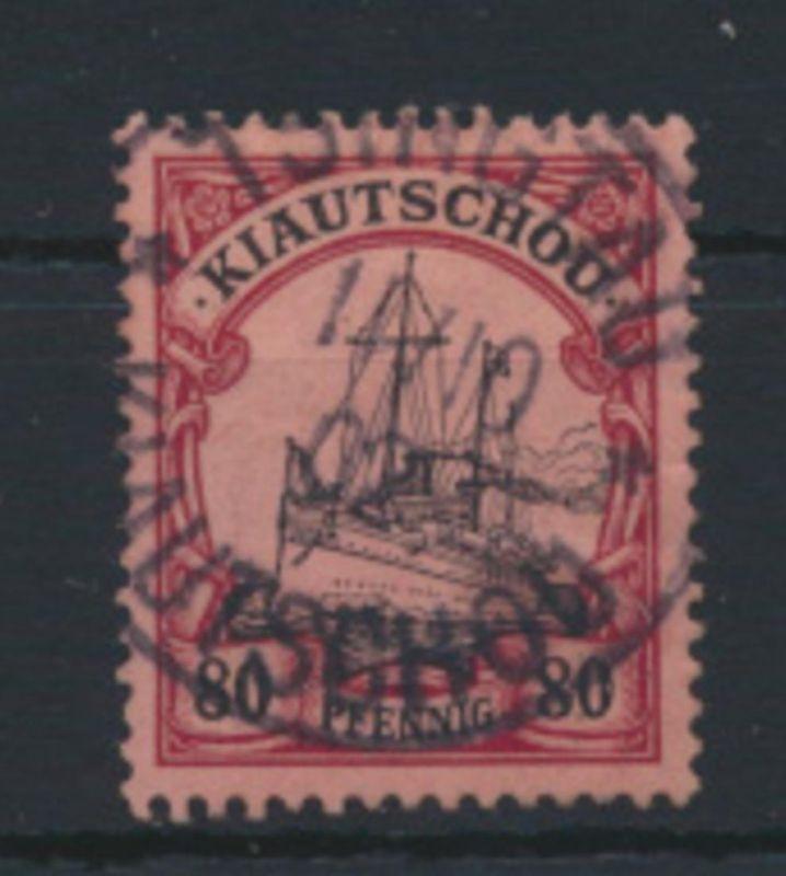 Deutsche Kolonien Kiautschou 13 gestempelt TSINGTAU 11.10.1902 Kat.-Wert 65,00