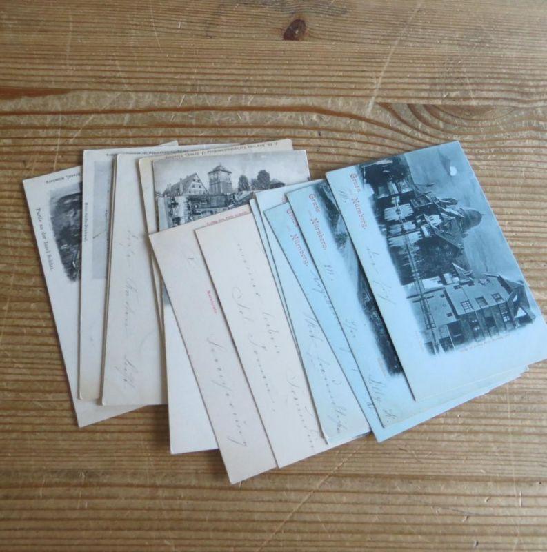 Ansichtskarten Sammlung Nürnberg Kettensendung an eine Adresse gesamt 14 Stück