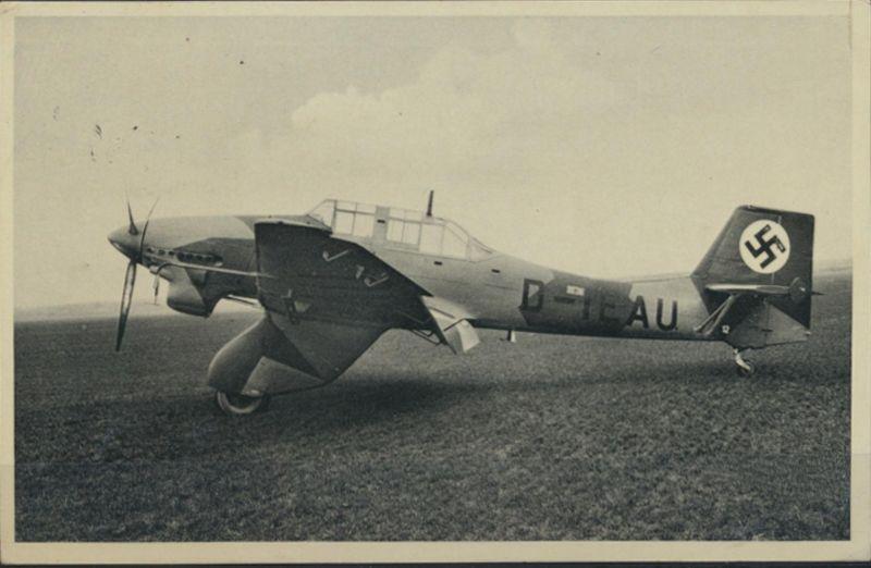 Ansichtskarte Sturzkampfflugzeug Ju 87 Landpost Seerappen über Königsberg Frei