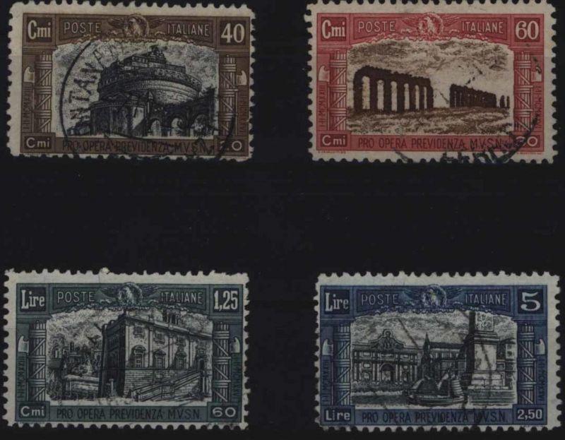 Italien 249-252 Wohltätigkeitsausgabe für Nationalmiliz 1926 komplett gestempelt