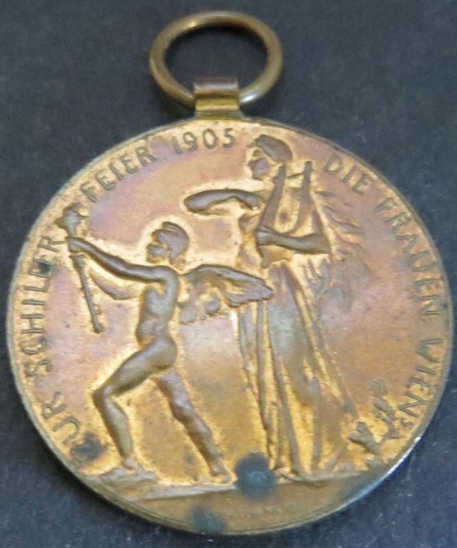 Münze Medaille Österreich  Zur Schillerfeier Die Frauen Wiens sign. Schwartz ss