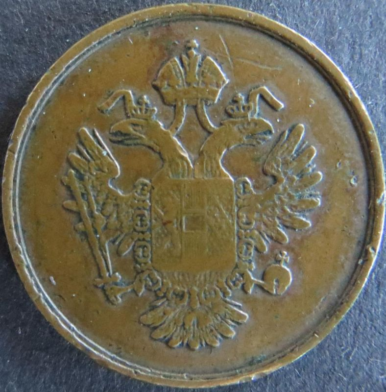 Münze Österreich ca. 1850 Robotmarke Haus Habsburg Halbe Tages Arbeit ss
