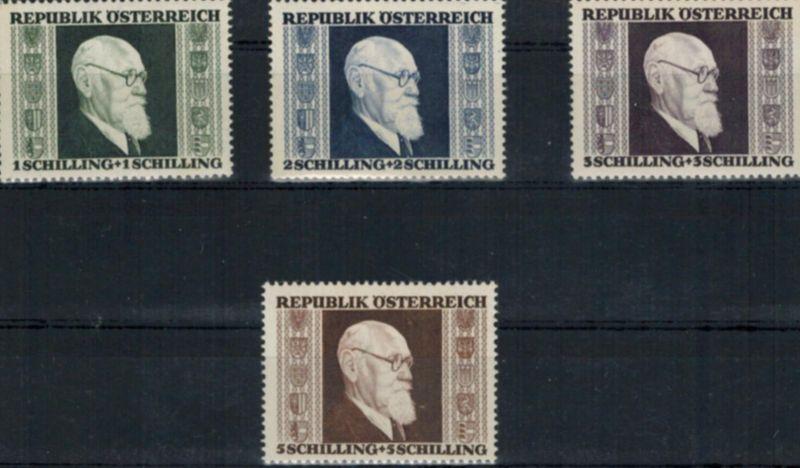 Österreich Renner Bundespräsident 772-775 komplett postfrisch 1946