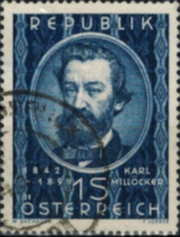 Österreich 947 Karl Millöcker Komponist Musik 1949