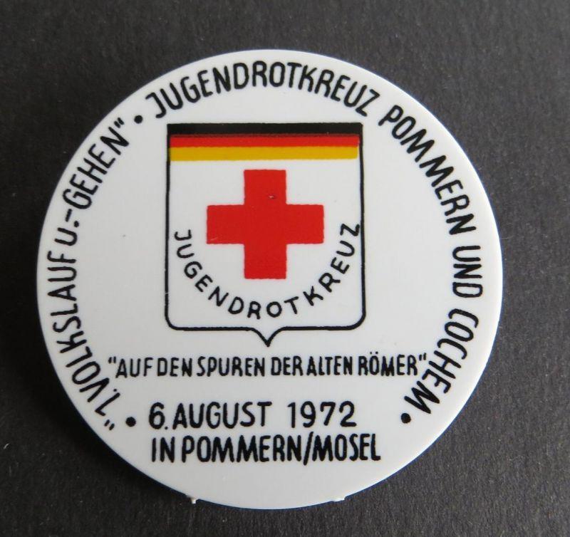 Button 1. Volkslauf und - Gehen Jugendrotkreuz Pommern und Cochem 1972
